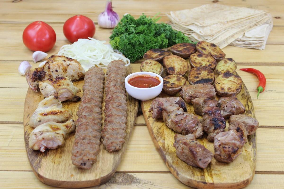 Блюдо на компанию из 4 человек (вес 1450 грамм)