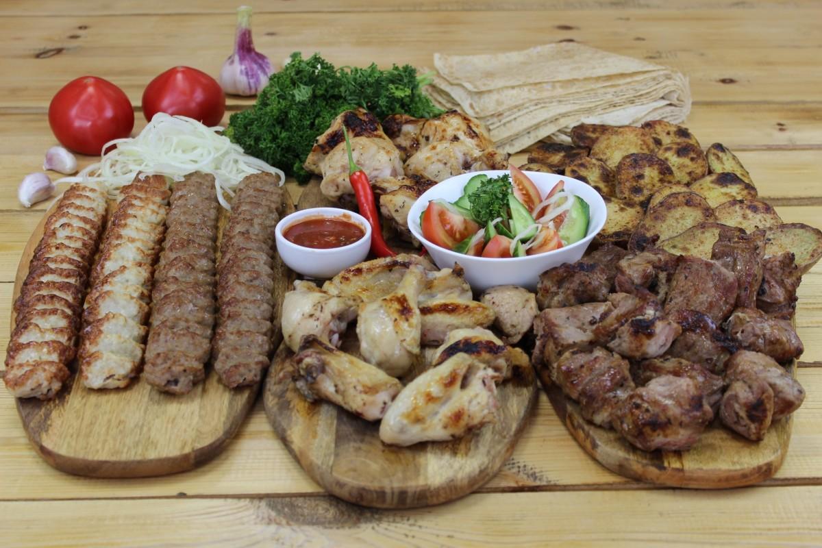 Блюдо на компанию из 9 человек (вес 3400 грамм)